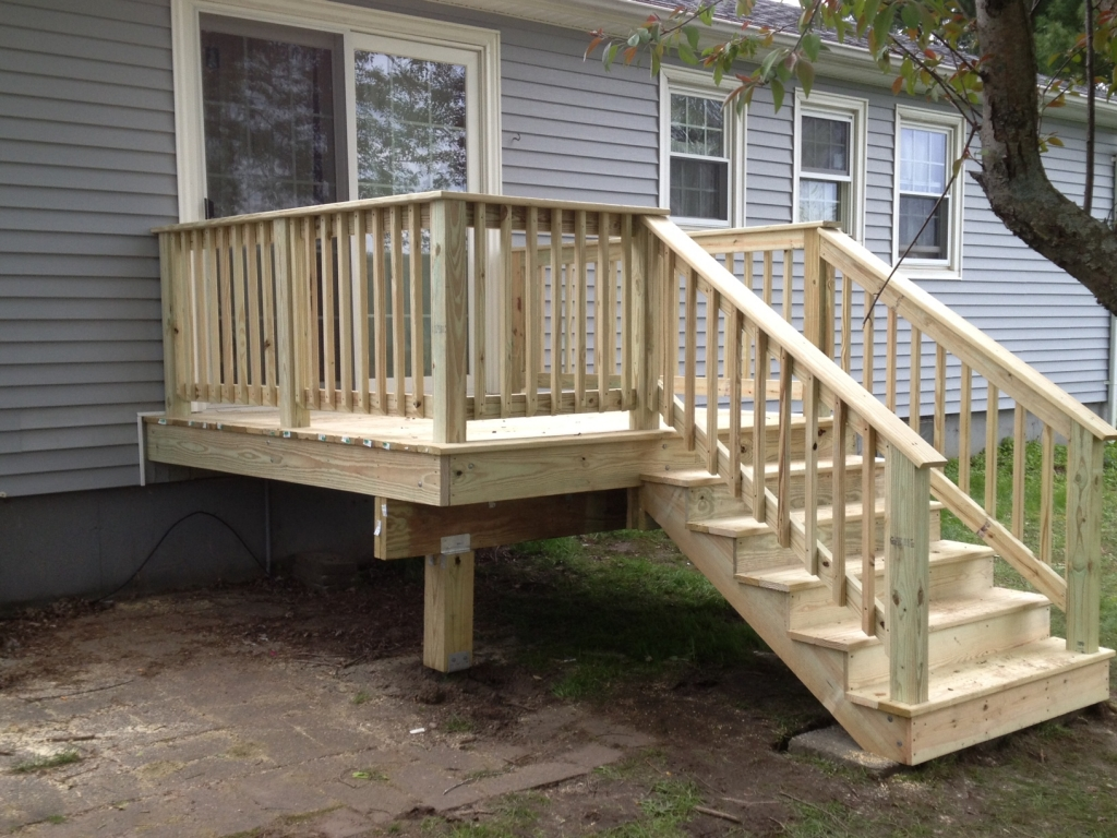 Custom decks porches ac wood contracting Building a deck